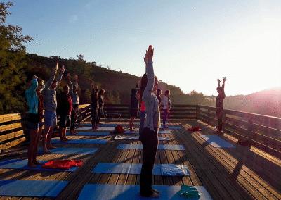 Yoga Rooftop am Morgen
